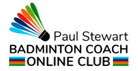 The Online International Badminton Club Logo
