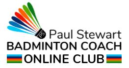 Paul Stewart Badminton Online Club Logo